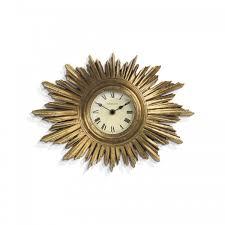 newgate the sunburst wall clock gold