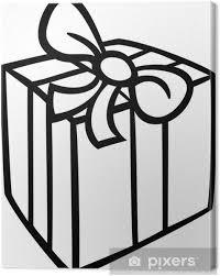 Canvas Kerst Cadeau Kleurplaat Pixers We Leven Om Te Veranderen