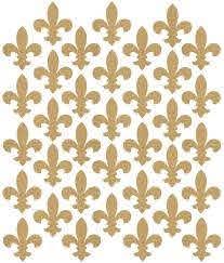 Amazon Com 35 Gold Metallic Fleur De Lis Vinyl Wall Decals Home Kitchen