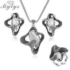 mytys retro grey black vintage jewelry