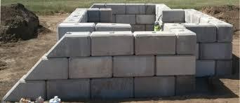 large concrete block retaining walls