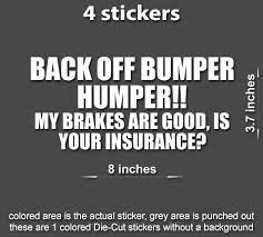 4x Back Off Bumper Humper Decals Stickers Jdm Shocker Toyota Funny Car Stickerboy Skins For Protecting Your Mobile Device