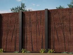 Corten Garden Screen Panels Cost Weathering Steel Fence Screening For Sale