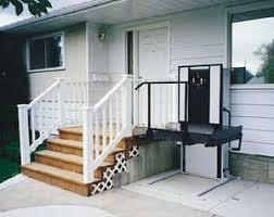wheel chair porch lift bruno wheel
