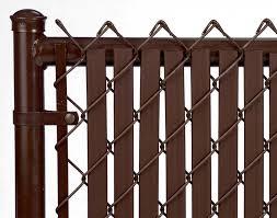 Brown 6ft Tube Slat For Chain Link Fence Walmart Com Walmart Com