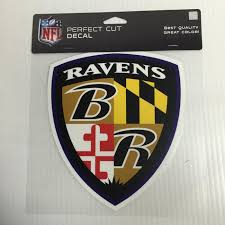Baltimore Ravens Colored Window Die Cut Decal Wincraft Sticker 8x8 Nfl Sports City Hats