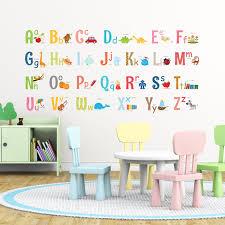 Disney Alphabet Wall Decals Arabic Black Large Art Abc For Nursery And White Playroom Walmart Vamosrayos