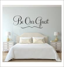 Be Our Guest Wall Decal Guest Bedroom Decal Home Decor Wedding Decal Vinyl Decal Bedroom Decal Guest Room Decor Wall Quote Be Our Guest