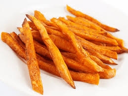 french fries fried sweet potato red