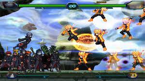 Kisame & Akatsuki VS Naruto Six Path - Bleach Vs Naruto 3.4 ...
