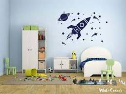 Rocket Wall Decal Space Sticker Stars Decal Planet Stickers Kids Room R450 Ebay