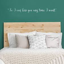 Amazon Com Vinyl Wall Art Decal So I Can Kiss You Anytime I Want 4 X 40 Modern Cursive Charming Quote For Couples Love Home Apartment Family Bedroom Bathroom Indoor