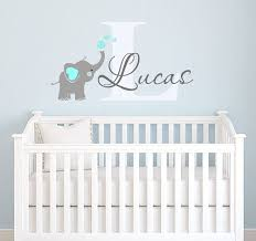 Elephant Decal Name Wall Decal Elephant Wall Decal Elephants Etsy Baby Boy Room Decor Elephant Baby Boy Elephant Baby Rooms