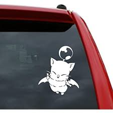 Amazon Com My Other Ride Is A Chocobo White Vinyl Car Laptop Window Wall Decal Automotive