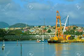 Port Victoria Brazil,views Of The River And The Ships Stock Photo, Picture  And Royalty Free Image. Image 34359222.