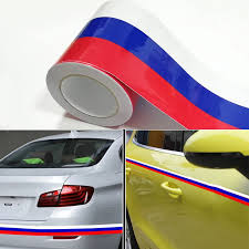 Car Styling 100cm X 15cm 7 5cm Vinyl Auto Flag Racing Strip Car Motorcycle Bike Decal Laptop Sticker Russia Italy France Germany Car Stickers Aliexpress