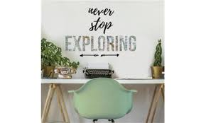 Roommates Rmk3658scs Never Stop Exploring Quote Peel Stick Wall Decals Groupon