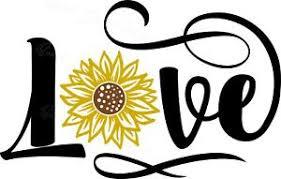Love Sunflower Summer Vinyl Decal 1617 Ebay