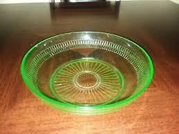 hocking glass green depression vaseline