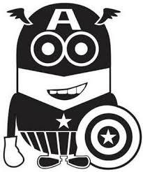 Despicable Me Captain America Minion Die Cut Vinyl Sticker Decal Blasted Rat