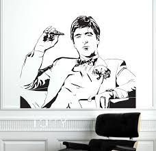 Scarface Movie Tony Montana Wall Sticker Creative Poster Vinyl Decal Art Room Removable Mural Home Interior Decor Interior Decor Wall Stickervinyl Decal Aliexpress