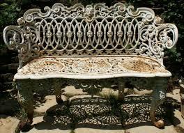 rococo style cast iron garden bench