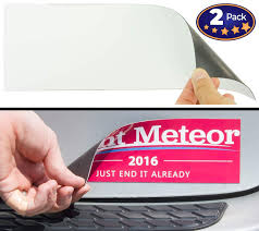 Cut To Size Bumper Sticker Magnetizer 2 Pack Turn Any Decal Into A Strong Magnet Durable Weatherproof Magnetic Strip Protects Paint Allows For Easy Swaps Flexible 4x12 Sheet Guaranteed To Stick