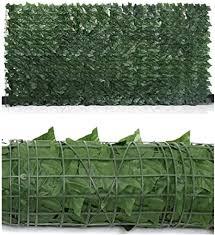 Amazon Com Decorative Fences Privacy Fence Screen Artificial Ivy Leaves Pvc Hedge Allow Air To Flow Through For Outdoor Interior Decoration Garden Backyard Balcony Color Green Size 1x2 5m Garden