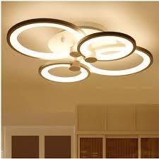 Đèn led mâm ốp trần 4 cánh tròn Olympic 3 chế độ ánh sáng có điều khiển từ  xa tiện dụng