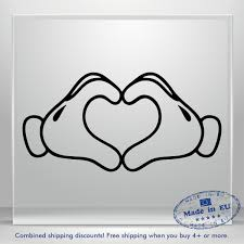 Heart Hand Love Vinyl Decal Sticker Mickey Minnie Mouse Car Window Laptop Tablet Ebay