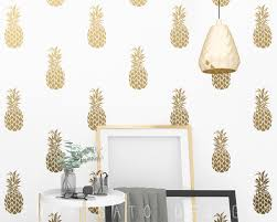 Pineapple Decals Pineapple Decor Wall Decor Gift For Her Gift Pineapple Wall Decal Vinyl Decal Pineapple Wall Art Gift For Daughter