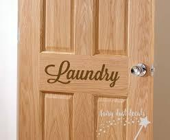 Laundry Room Door Decal Script Style Vinyl Letters Farmhouse Etsy