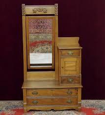 antique dresser chest hatbox swing out