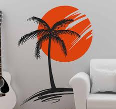 Palm Tree Sun Wall Sticker Tenstickers