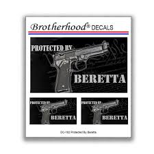 Protected By Beretta Car Window Laptop Decal Collection 3 Etsy