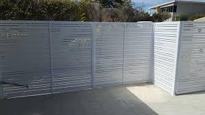 Aluminium Slat Fencing Louvres Platinum Barriers Fencing Gates