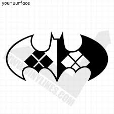 Batman Harley Quinn Bat Symbol Decal