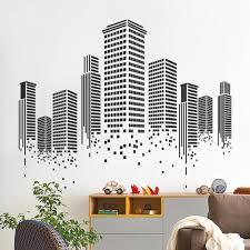 Yoyoyu Art Home Decor Urban City Building Wall Decal Vinyl Sticker Graphics Bedroom Living Room Office Decoration Ww 506 Wall Stickers Aliexpress