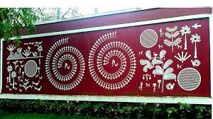 simple wall paintings warli art