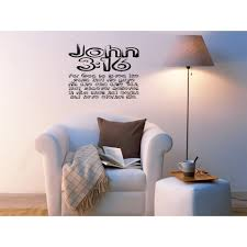 Shop Inscription For God So Loved The World Wall Art Sticker Decal Free Shipping On Orders Over 45 Overstock 11548398