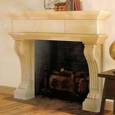 nottingham cast stone fireplace mantels
