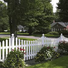 Bufftech Concave Cape Cod Vinyl Fence Vinyl Picket Fence Fence Landscaping Backyard Fences