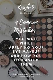 while applying your eye makeup