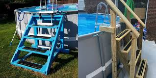 Construction Guide Diy Walk In Steps For Above Ground Pool Right Where We Are