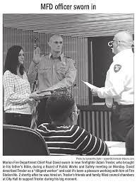 Firefighter Adam Trexler being sworn in... - Marion Professional  Firefighters Local 676 | Facebook