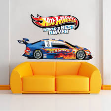 Race Car Boys Room Decals Race Car Wallpaper Boys Room Wall Murals Race Track Wall Stickers Boys Room Decals Hot Wheels Bedroom Boys Wall Decals