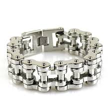 Felix Perry Men's Heavy Biker Motorcycle Chain Link Bracelet Stainless  Steel Silver Polished 8.78 Inch - Buy Online in Burundi. | felix perry  Products in Burundi - See Prices, Reviews and Free