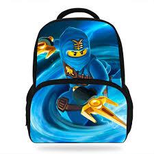 14inch Cute Mochila Ninjago Bag School For Boys Bookbag Kids ...