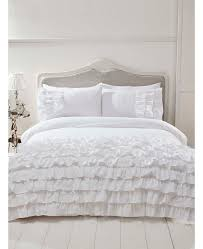 flamenco ruffle white king size duvet