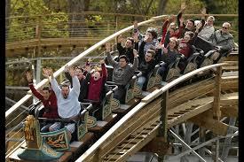 wooden roller coaster at busch